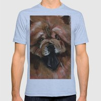 Chow dog portrait Mens Fitted Tee Athletic Blue SMALL