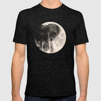 The Elephant in The Moon Mens Fitted Tee Tri-Black SMALL