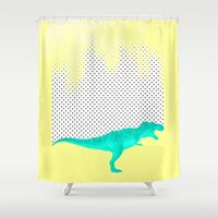 dino got the blues, or not! Shower Curtain
