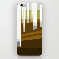 Minimal Finland (silver birch forest) iPhone & iPod Skin
