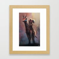 Creature rider Framed Art Print
