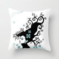 Audrey Hepburn Natural line Throw Pillow