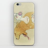 The lady and the lion. iPhone & iPod Skin