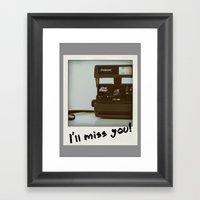 I miss Polaroid. Framed Art Print