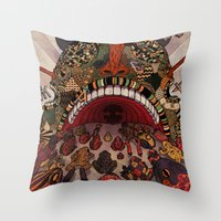 Swallow Frogs Throw Pillow