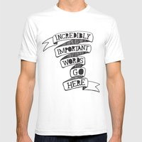 Important words Mens Fitted Tee White SMALL
