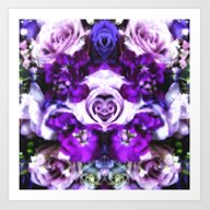 Purple Pink Flowers Art Print