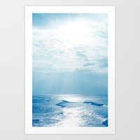 Hookipa Beach Blue Sensa… Art Print