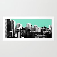 City Skyline Art Print