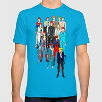 Bowie Doodle Mens Fitted Tee Teal SMALL