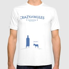 Crazy old Mule / Absolut Mens Fitted Tee SMALL White