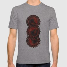 Design Grunge Mens Fitted Tee Tri-Grey SMALL