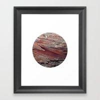 Planetary Bodies - Bark Framed Art Print