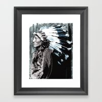 Native American Chief 2 Framed Art Print