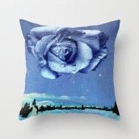 Winter Rose Throw Pillow