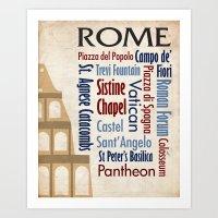 Travel - Rome Art Print