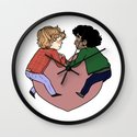 Enjolras and Grantaire in love Wall Clock