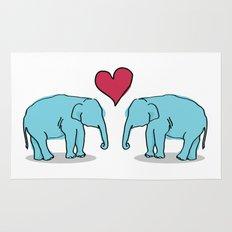 Elephant Love Rug