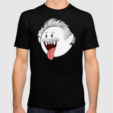 BooStein - Mario Boo and Einstein Mashup Mens Fitted Tee Black SMALL
