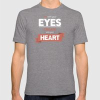 ...Create With Your Hear… Mens Fitted Tee Tri-Grey SMALL