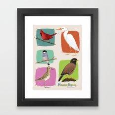 Hawaii Birds Collection Part 1 Framed Art Print