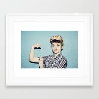 A Modern Rosie The Rivet… Framed Art Print