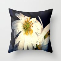 Anemone In The Darkness Throw Pillow