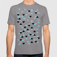 Triangles Ice Blue Mens Fitted Tee Tri-Grey SMALL