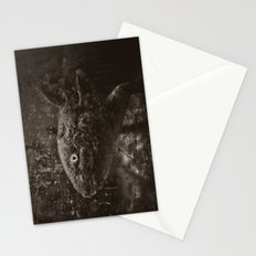 Axolotl Horst grey Stationery Cards