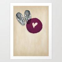 Zebra shoes Art Print
