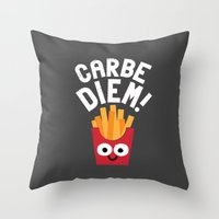 SuperSeize The Day Throw Pillow