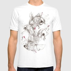 Fishcakes & Remedies SMALL Mens Fitted Tee White