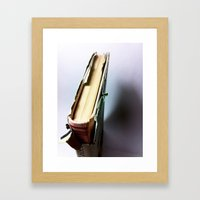 Book Framed Art Print