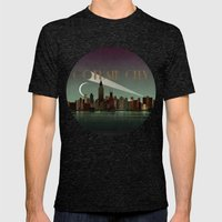 Gotham City Mens Fitted Tee Tri-Black SMALL
