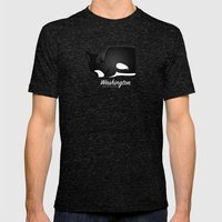 The Washington Whale Mens Fitted Tee Tri-Black SMALL