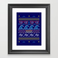 Ugly Summer Sweater Framed Art Print