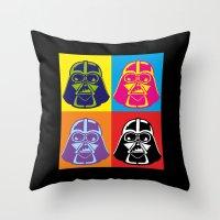 Darth Vader - Pop Art - Star Wars Throw Pillow