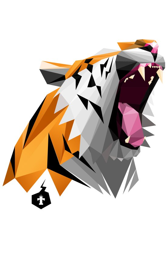 TML polygon tiger ROAR!!! Art Print