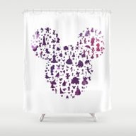 Shower Curtain featuring Mickey Ears Silhouette  by Studiomarshallarts