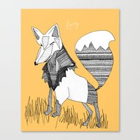 Feeling Foxy Canvas Print