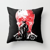 rebel from hell #1 Throw Pillow