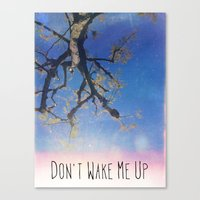 Don't Wake Me Up Canvas Print