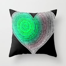 Love Grooves (green) Throw Pillow
