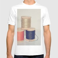 COTTON Mens Fitted Tee White SMALL