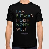 Shakespeare - Hamlet - I Am But Mad North-North-West Mens Fitted Tee Black SMALL