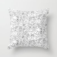 LOVE HARD Throw Pillow