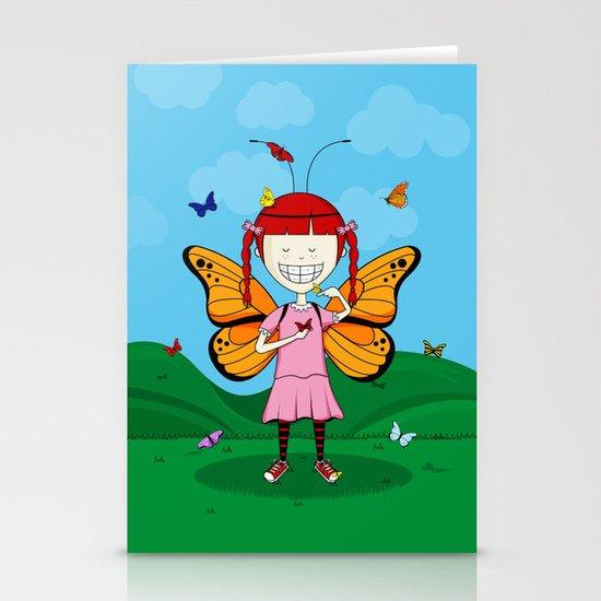 i heart butterflies Stationery Card