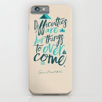 Shackleton Quote on Difficulties - Illustration iPhone 6 Slim Case