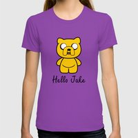 Hello Jake Womens Fitted Tee Ultraviolet SMALL