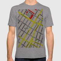 NEW YORK map design - SOHO area Mens Fitted Tee Athletic Grey SMALL